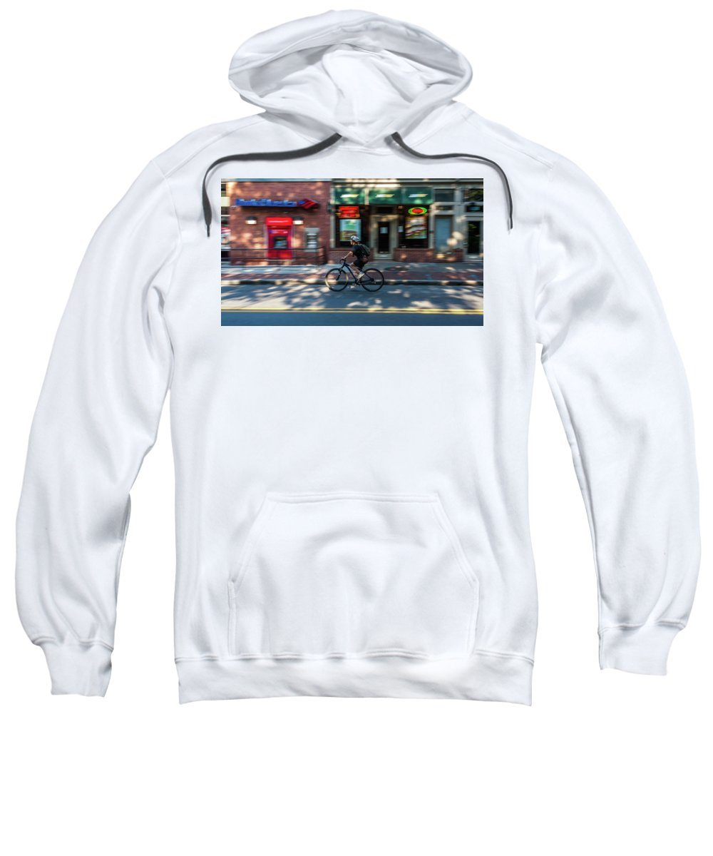 Baltimore Sweatshirt featuring the photograph Going To Work by Jim Archer