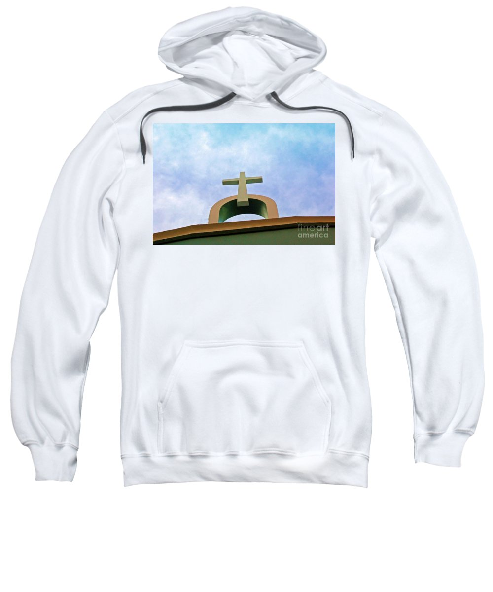 Cross Sweatshirt featuring the photograph Going Up by Debbi Granruth