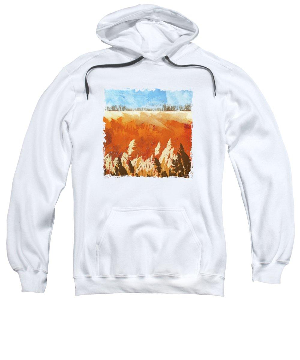 Gold Sweatshirt featuring the digital art Golden Afternoon by Katherine Smit
