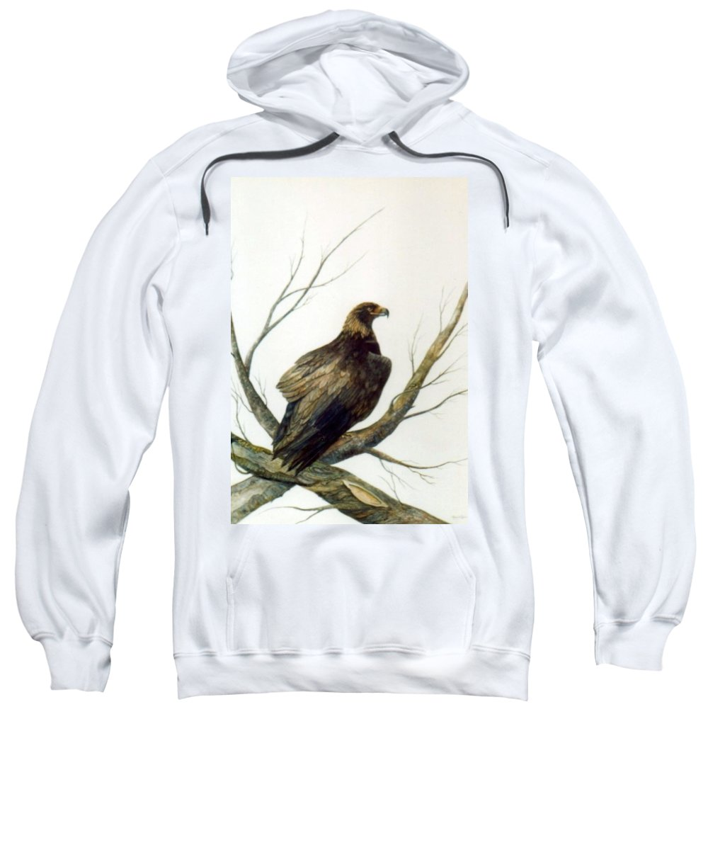 Eagle Sweatshirt featuring the painting Golden Eagle by Ben Kiger