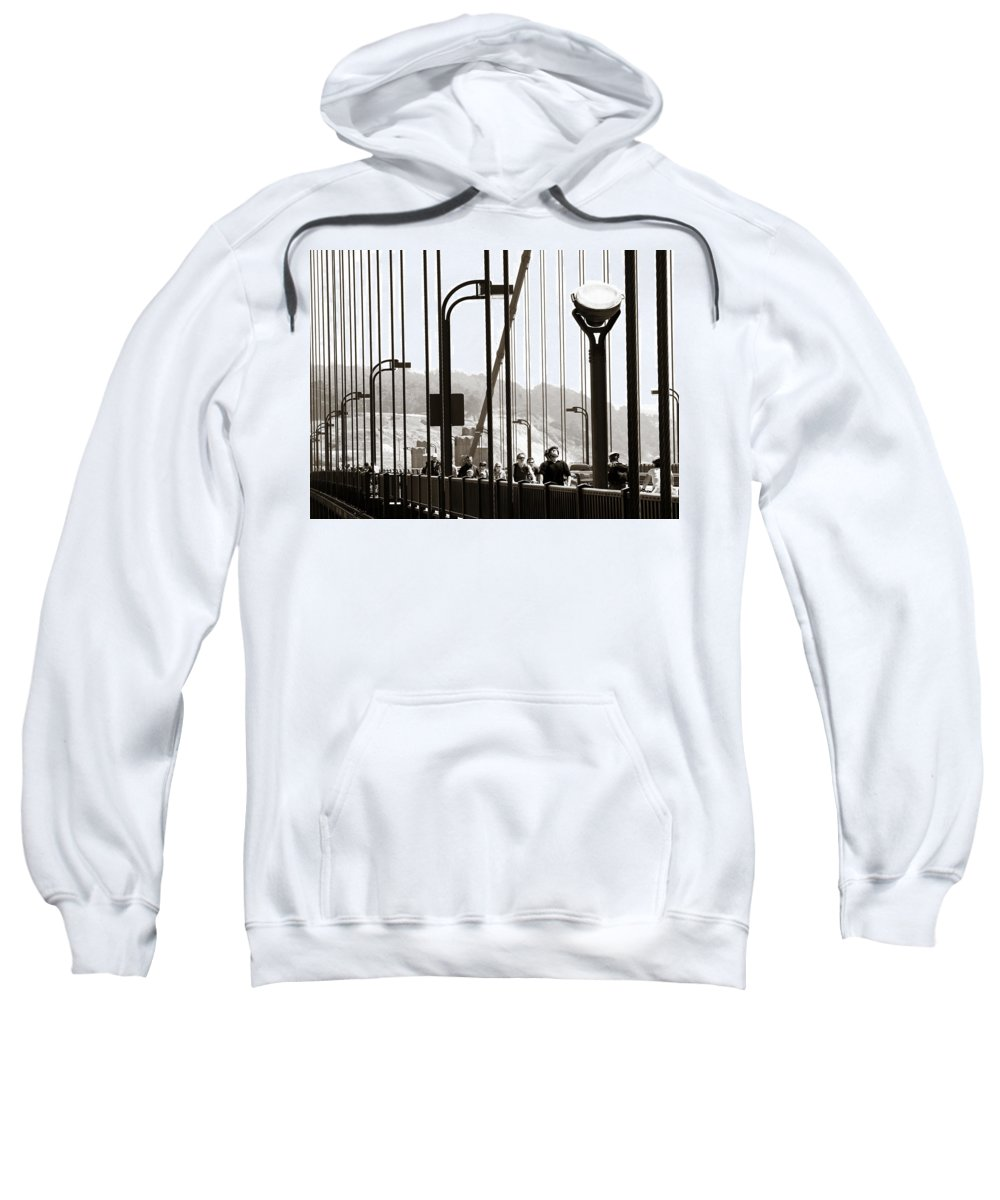 Americana Sweatshirt featuring the photograph Golden Gate Suspension by Marilyn Hunt