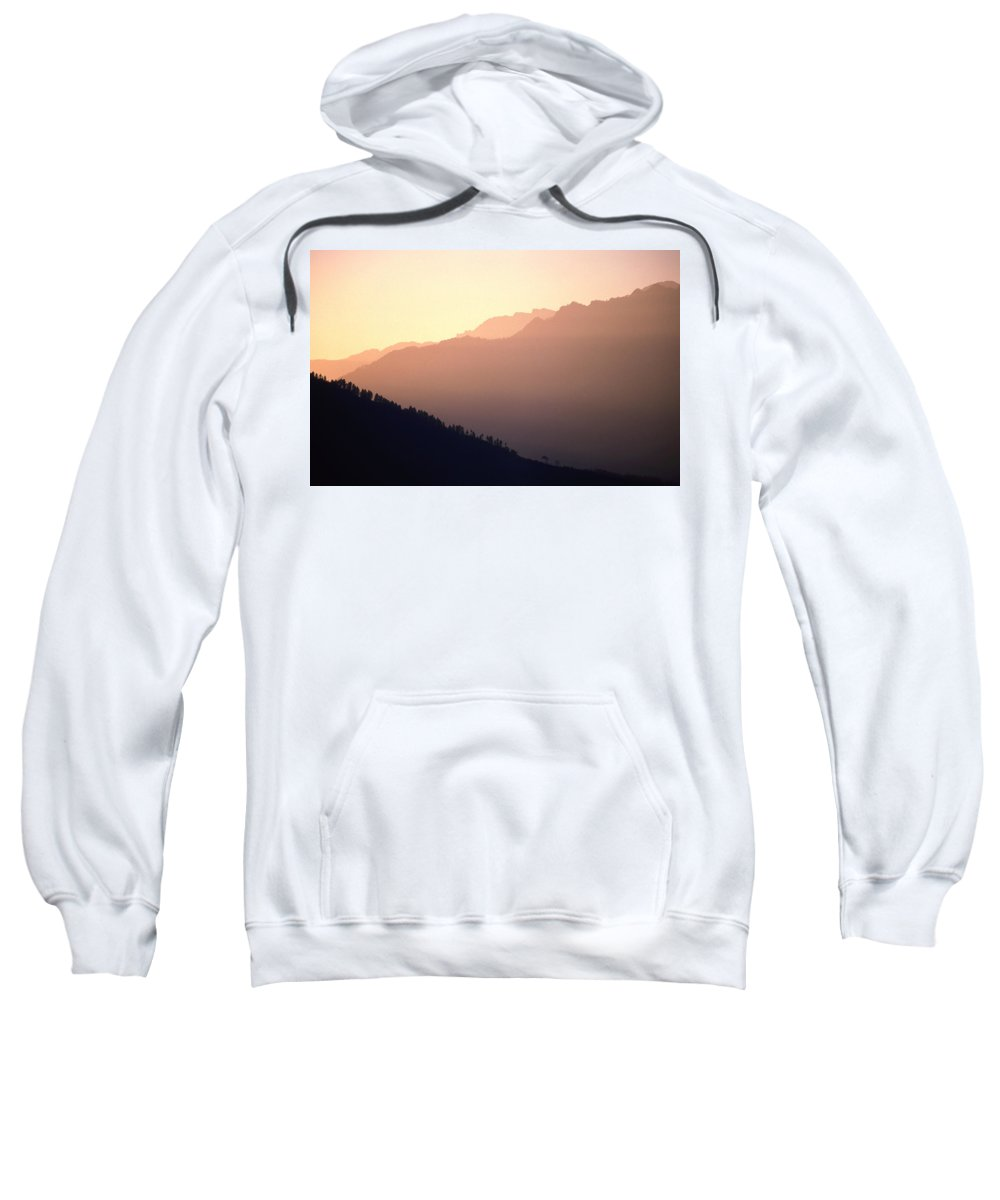 Langtang Sweatshirt featuring the photograph Golden Mountains by Patrick Klauss