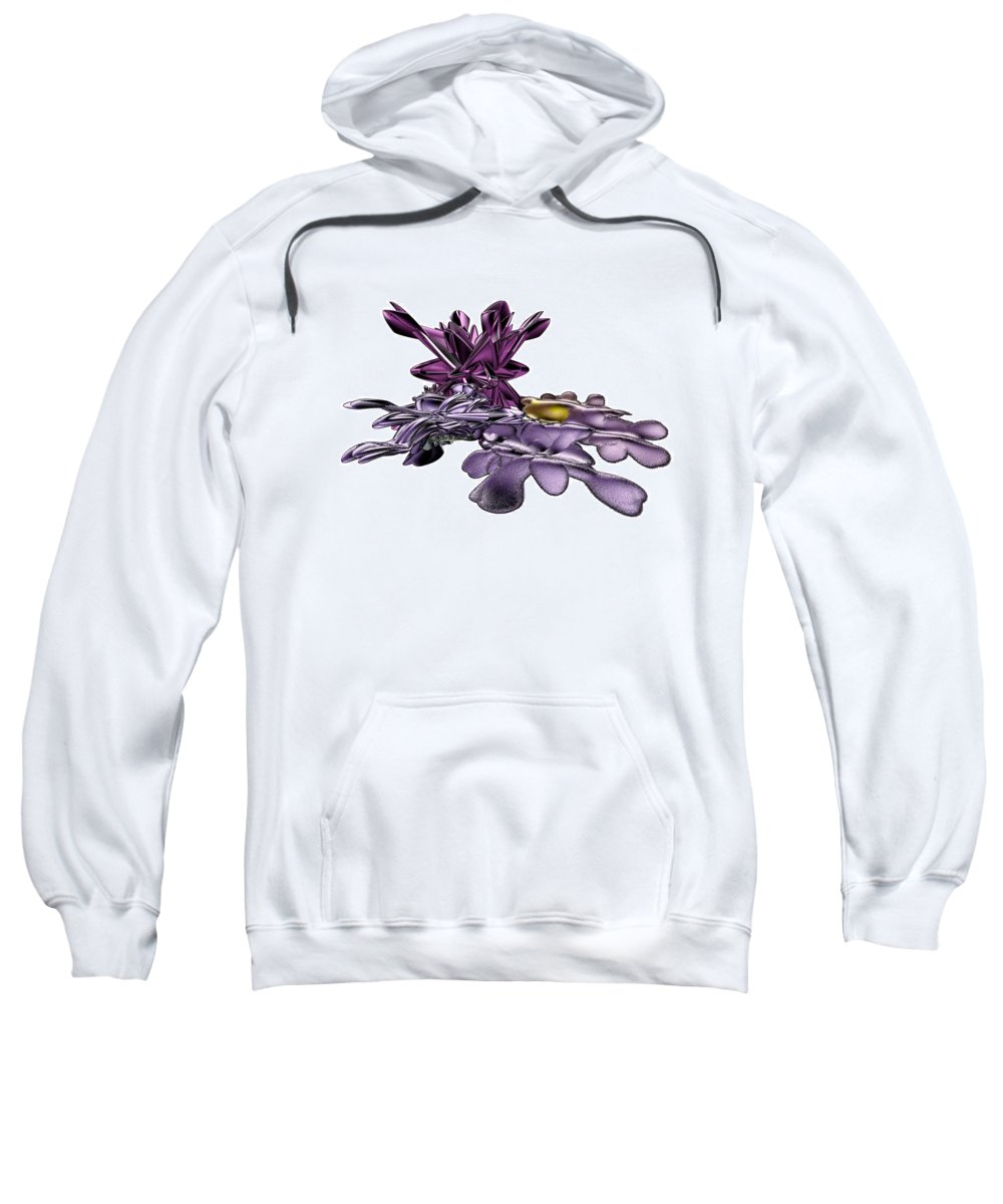 Fractal Sweatshirt featuring the digital art Golumphr Castle by Frederic Durville