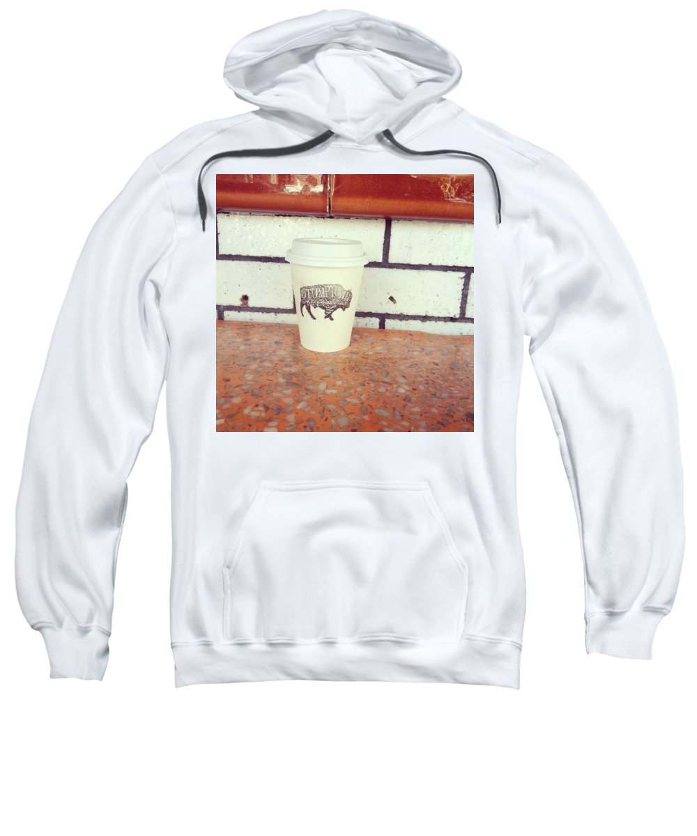 Coffee Sweatshirt featuring the photograph Good Coffee by Cara Poalillo