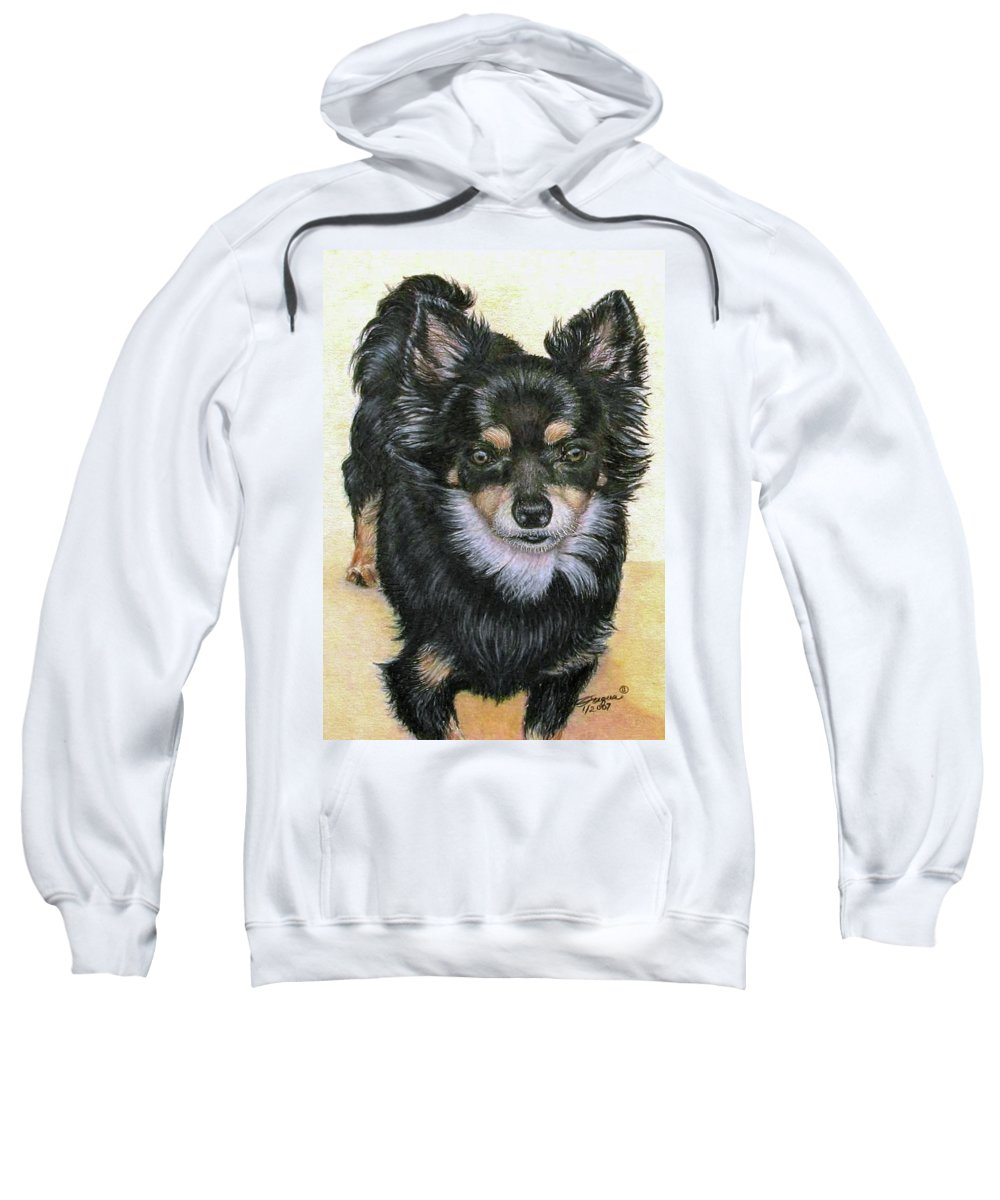 Fuqua Gallery-bev-artwork Sweatshirt featuring the drawing Good Golly Miss Molly by Beverly Fuqua