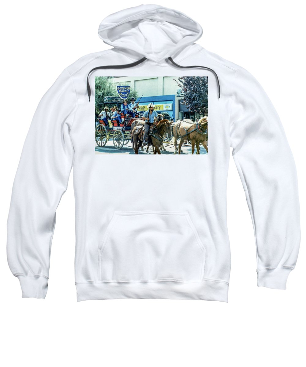 Western Sweatshirt featuring the photograph Goshen Parade 1980-3 by Gene Parks