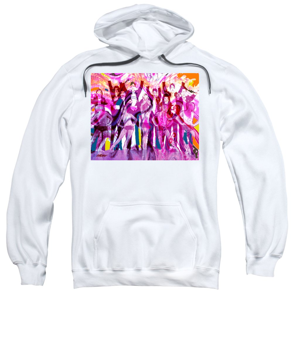 Joy Sweatshirt featuring the digital art Got To Dance by Seth Weaver