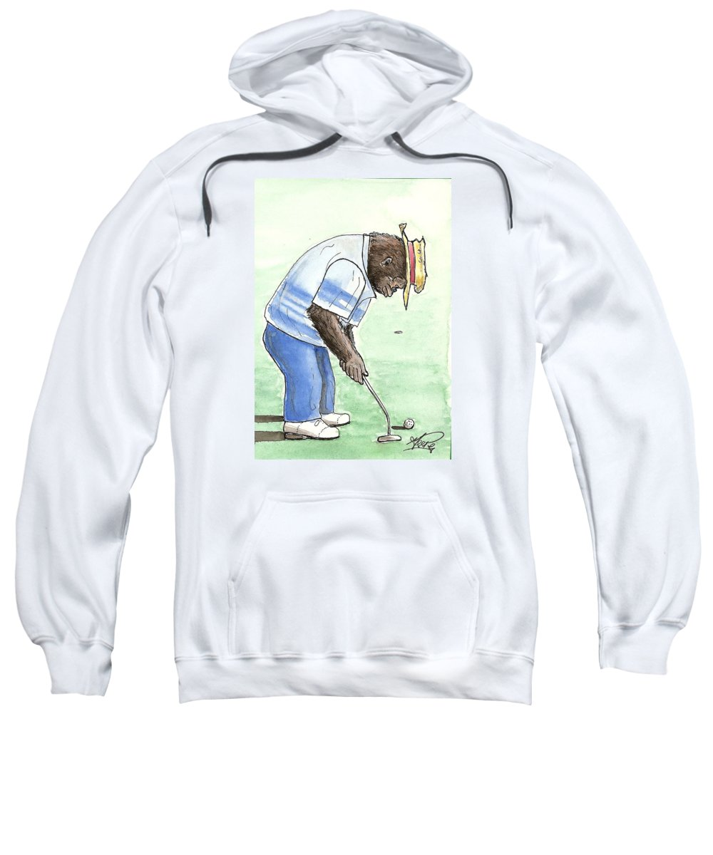 Golf Sweatshirt featuring the painting Got You Now by George I Perez