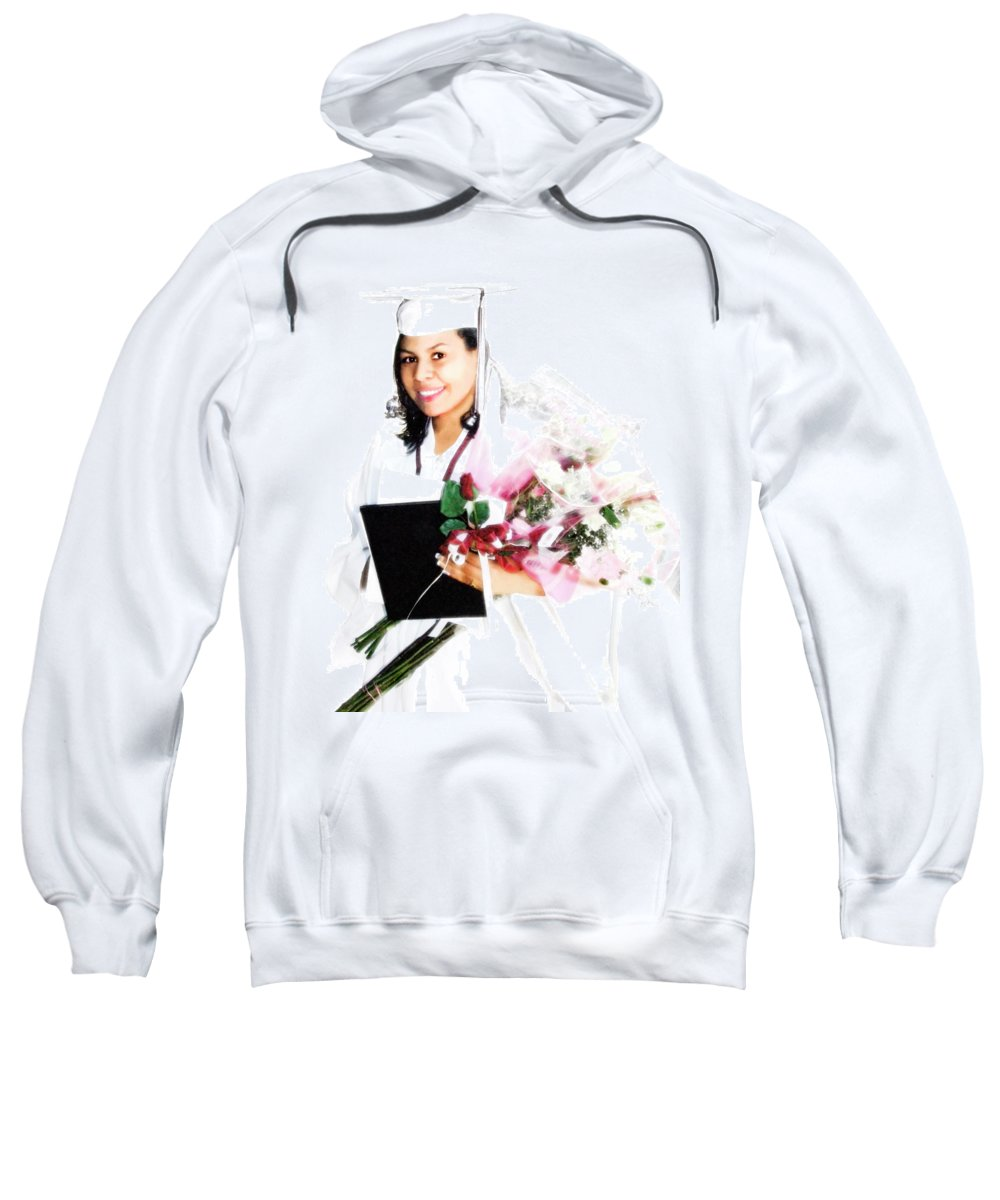 Achievement Sweatshirt featuring the digital art Graduation Pride by Francesa Miller