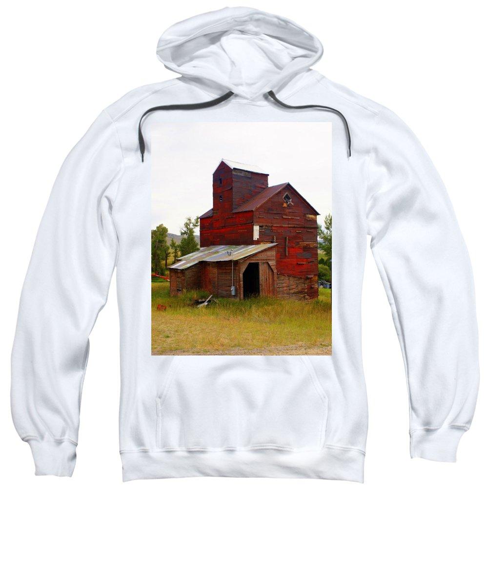 Grane Elevator Sweatshirt featuring the photograph Grain Elevator by Marty Koch