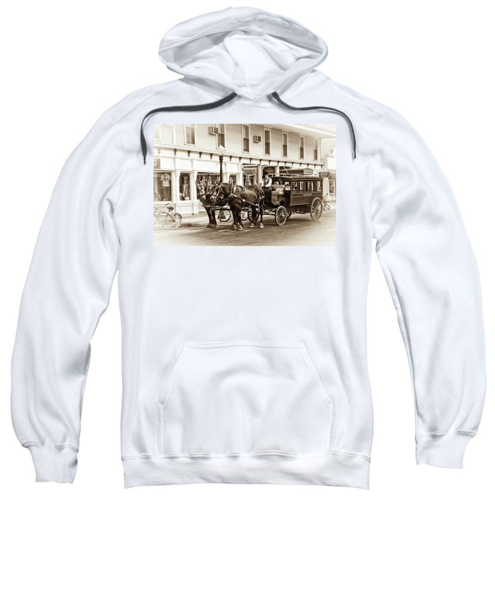 Michigan Sweatshirt featuring the photograph Grand Hotel Shuttle 10331 by Guy Whiteley