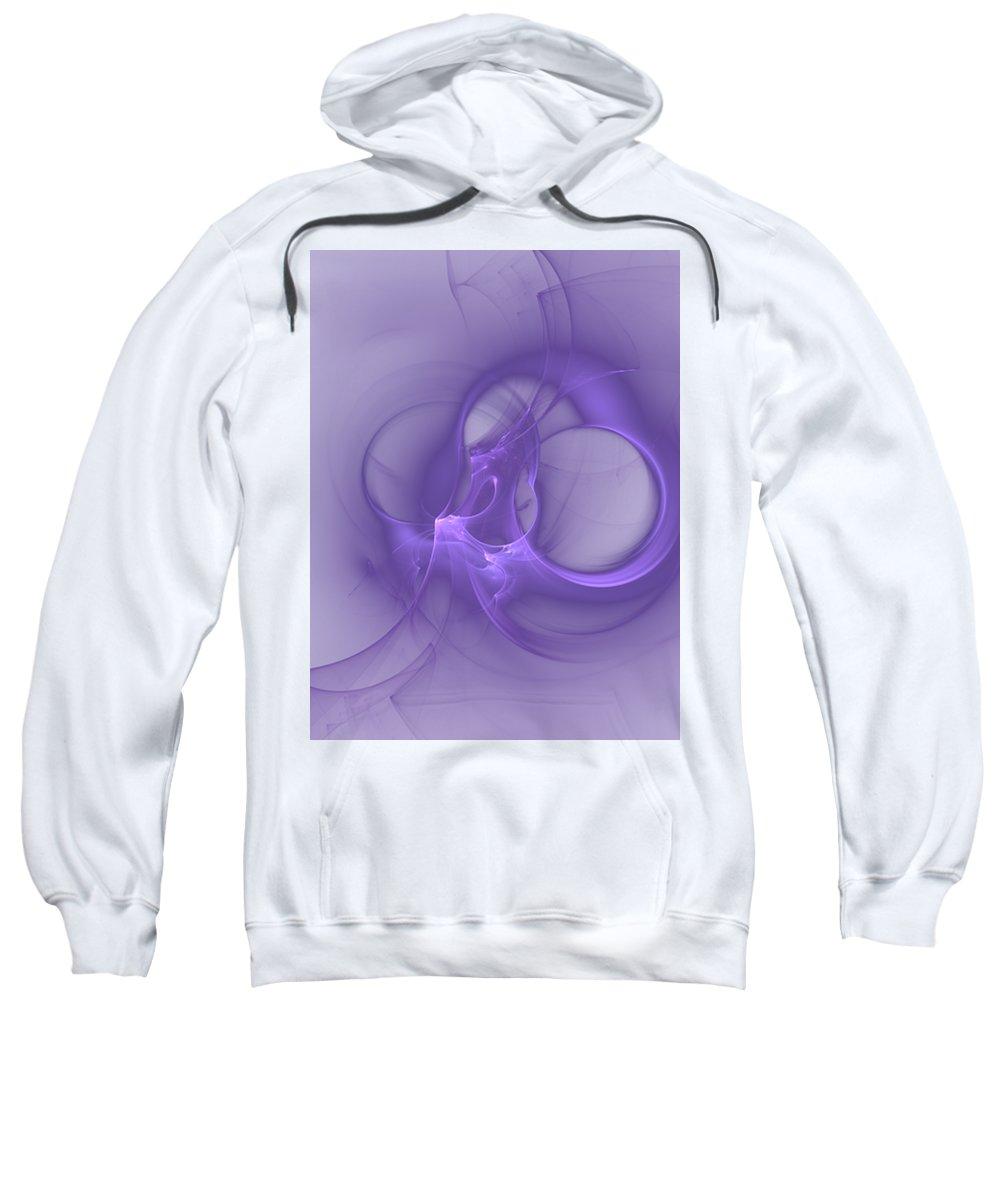 Fractal Sweatshirt featuring the digital art Grape Wings by John Pirillo
