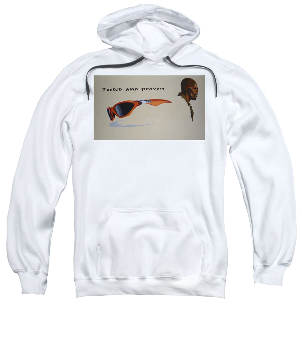 Paintings Sweatshirt featuring the painting Graphic Composition by Olaoluwa Smith
