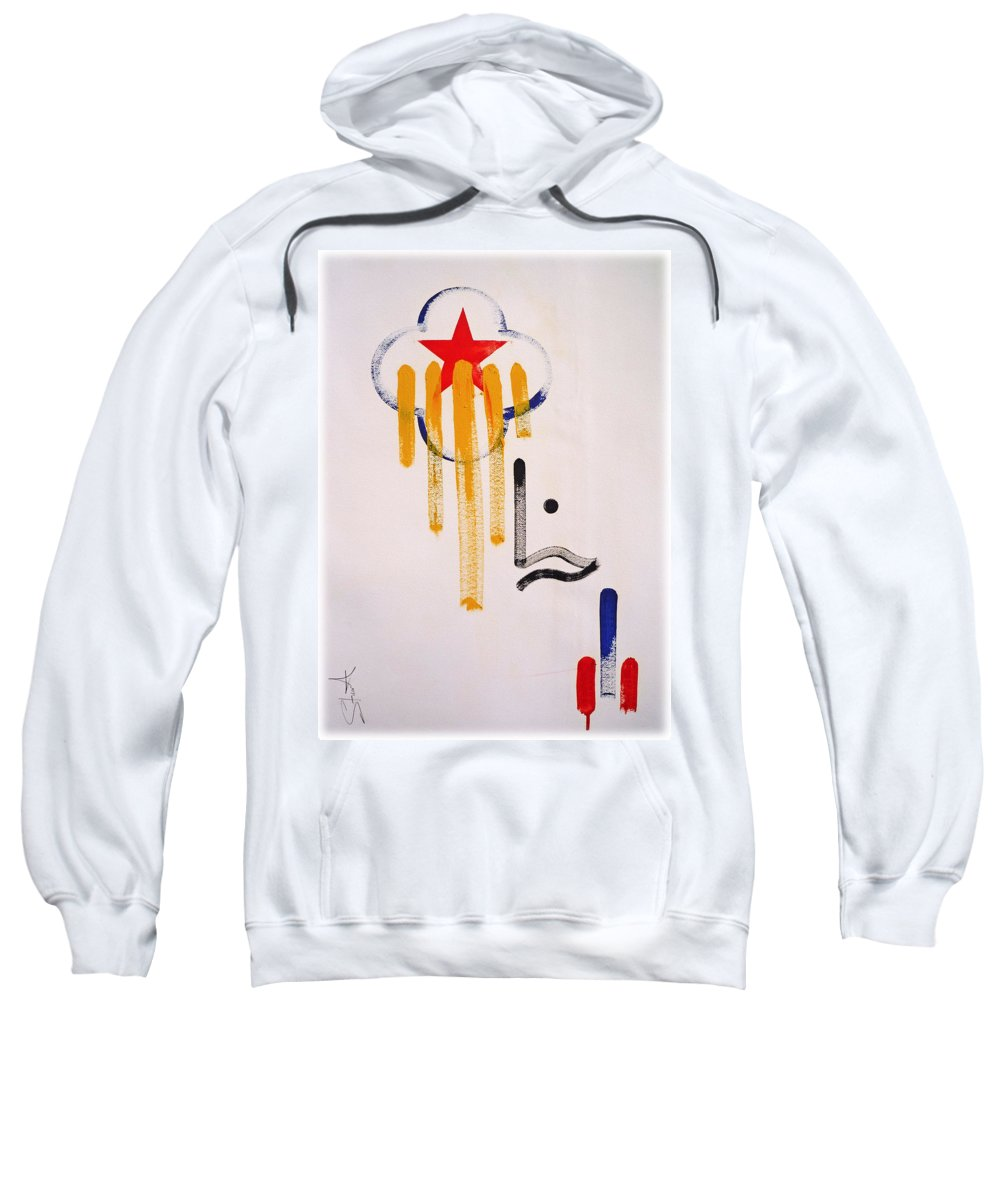 Drawing Sweatshirt featuring the painting Great American Image by Charles Stuart