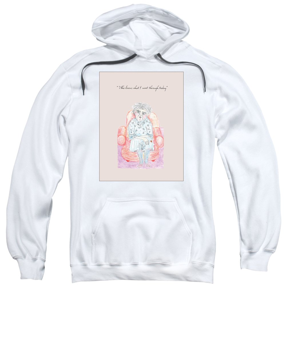 Humor Sweatshirt featuring the drawing Great Day by Heather Hennick