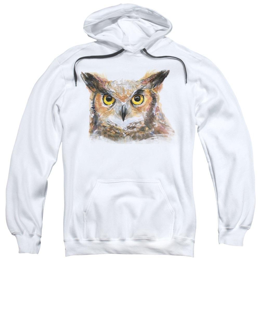 Owl Hooded Sweatshirts T-Shirts
