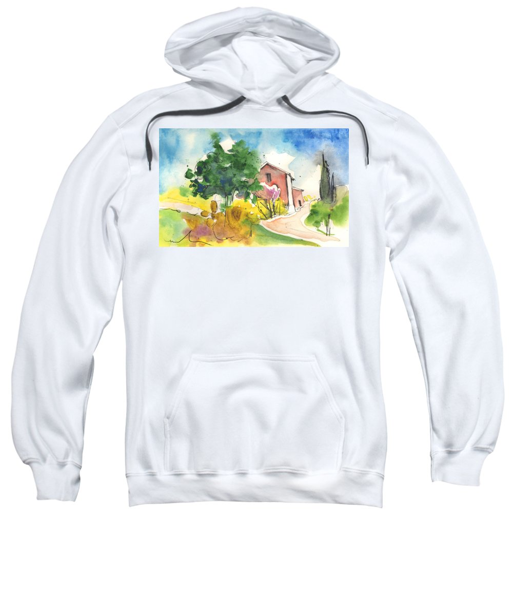 Italy Sweatshirt featuring the painting Greve In Chianti In Italy 01 by Miki De Goodaboom