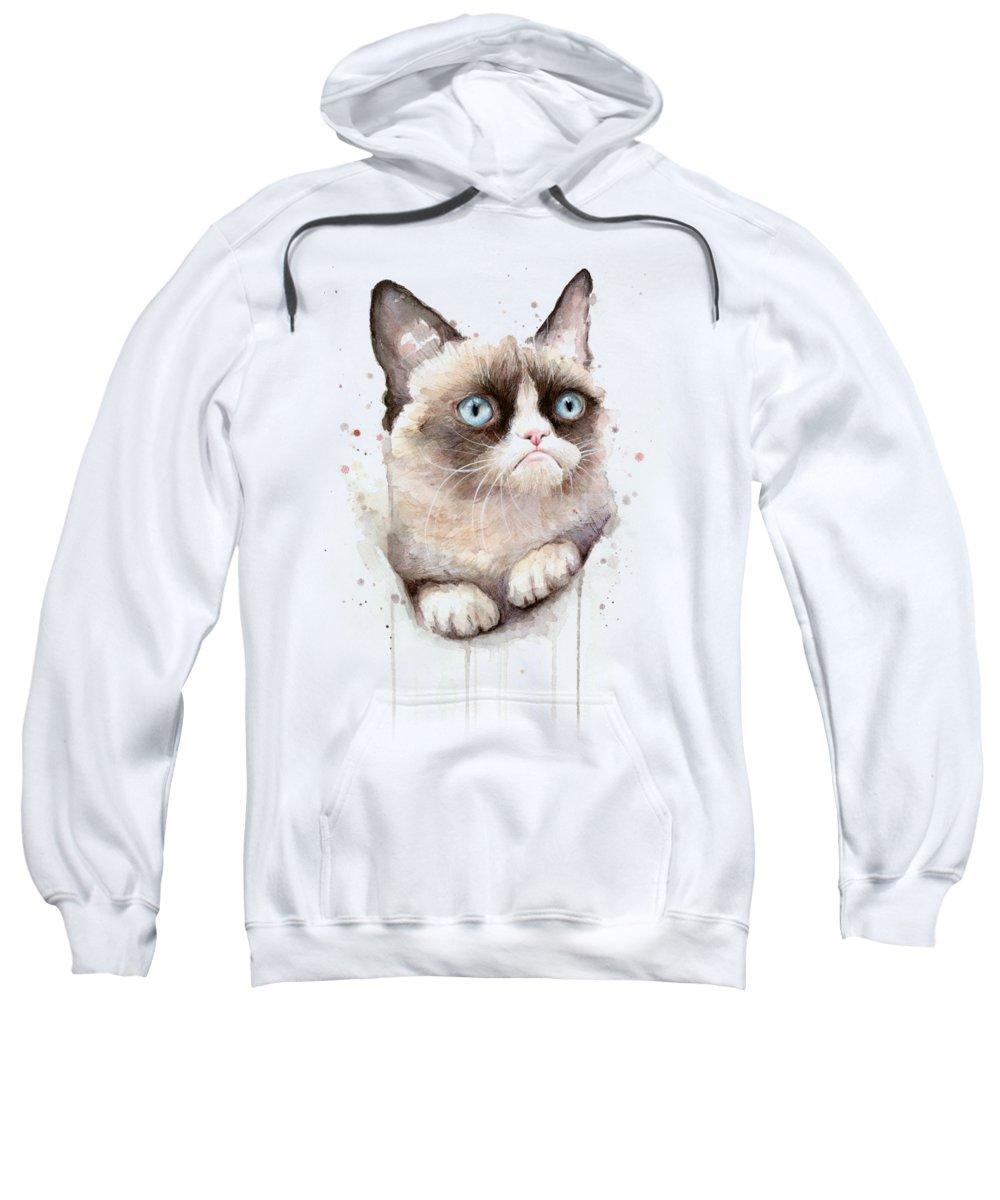 Watercolor Pet Portraits Hooded Sweatshirts T-Shirts