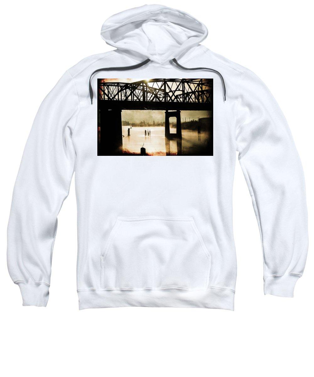 Grunge Sweatshirt featuring the photograph Grunge River by Julie Craig