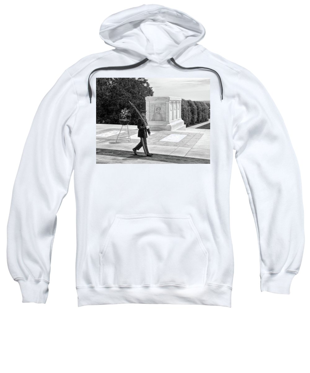 Soldier Sweatshirt featuring the digital art Guarding The Unknown Soldier by Garland Johnson