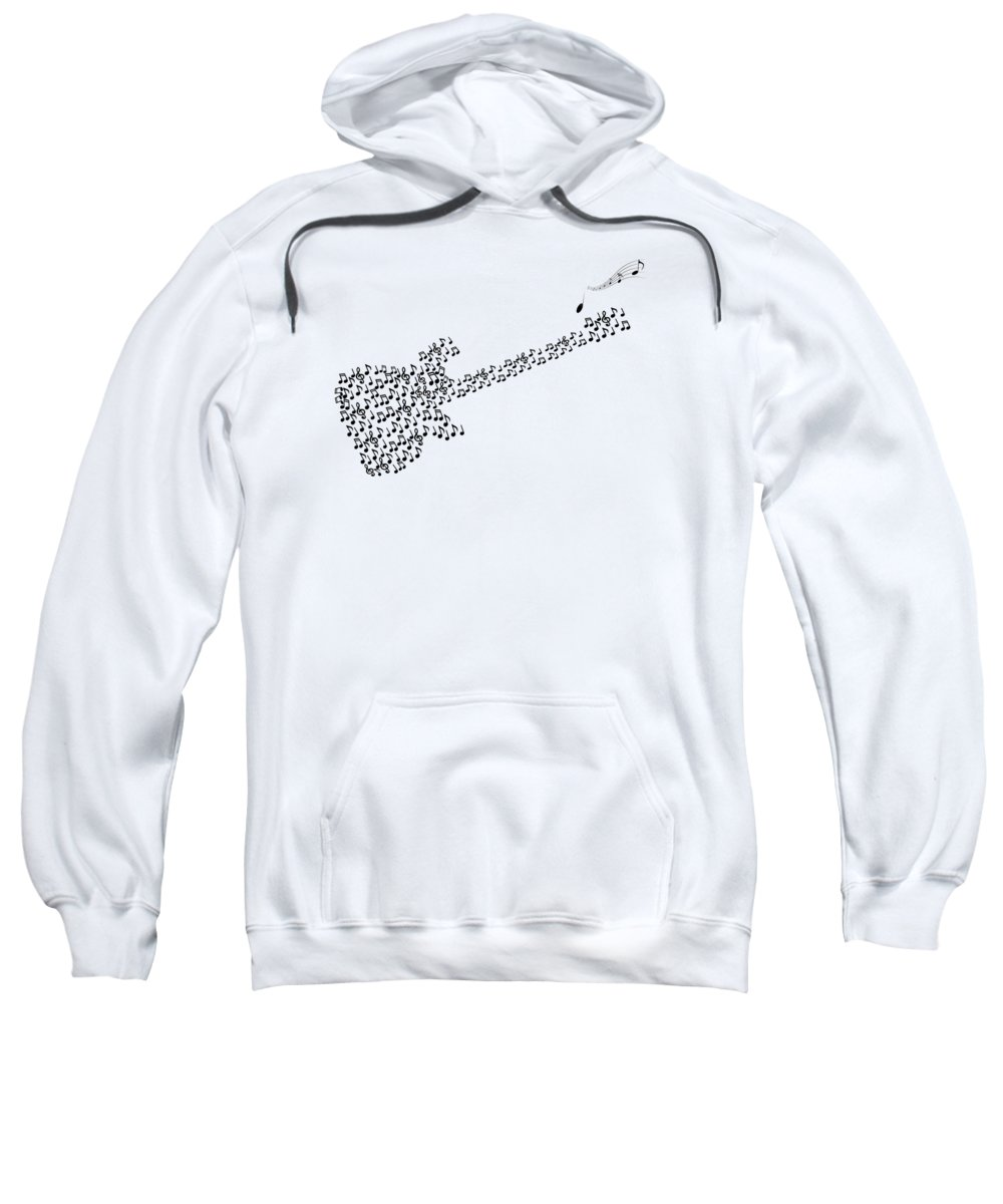 Music Sweatshirt featuring the digital art Guitar by Art Spectrum