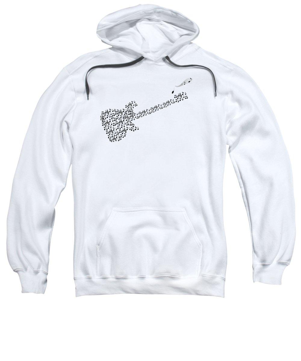 Music Sweatshirt featuring the digital art Guitar by Art Spectrum