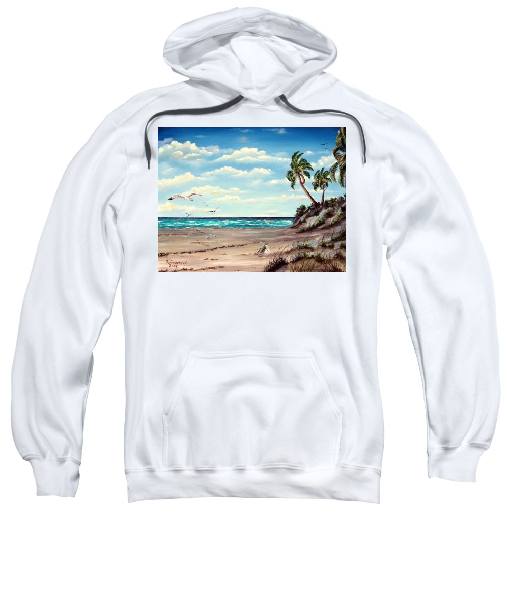 Art Sweatshirt featuring the painting Gulf Dunes by Riley Geddings