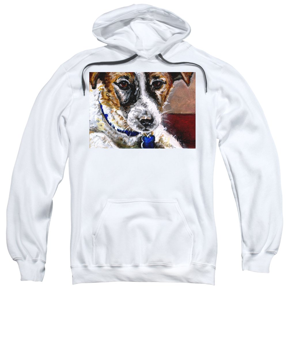 Chartiy Sweatshirt featuring the painting Gunter From Muttville by Mary-Lee Sanders