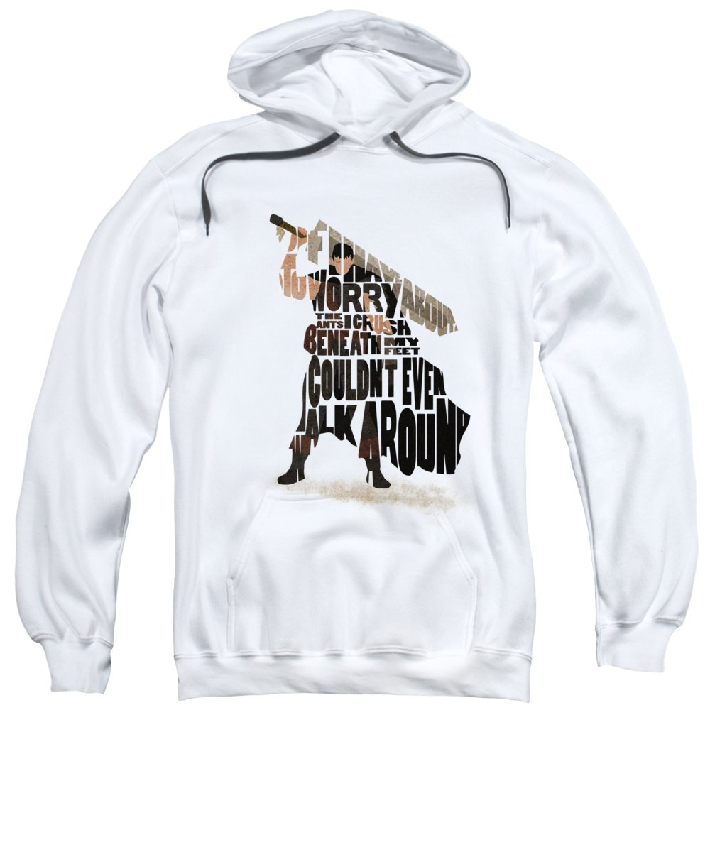 Guts Sweatshirt featuring the digital art Guts Typography Art by Inspirowl Design