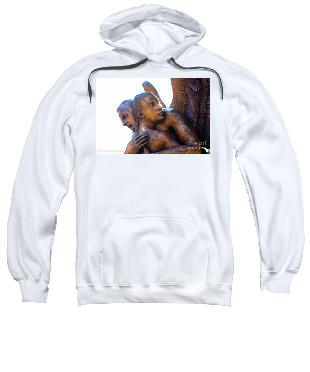 Sculpture Sweatshirt featuring the photograph Hang On And Let Go by Jennifer Seilhant