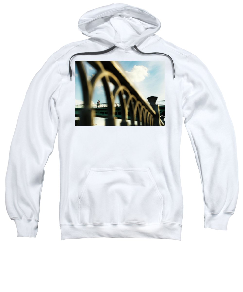 Couple Sweatshirt featuring the photograph Happy Moment by LOHE Bui