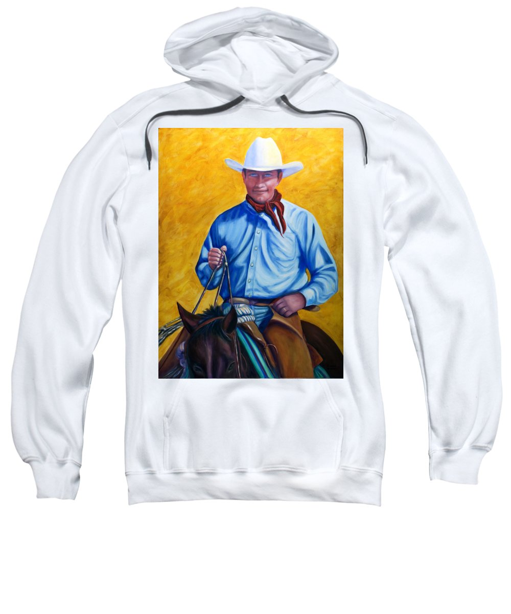 Cowboy Sweatshirt featuring the painting Happy Trails by Shannon Grissom