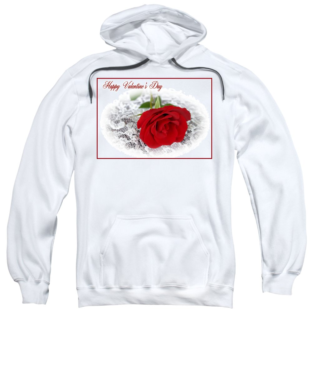 Valentine Sweatshirt featuring the photograph Happy Valentine's Day by Kristin Elmquist
