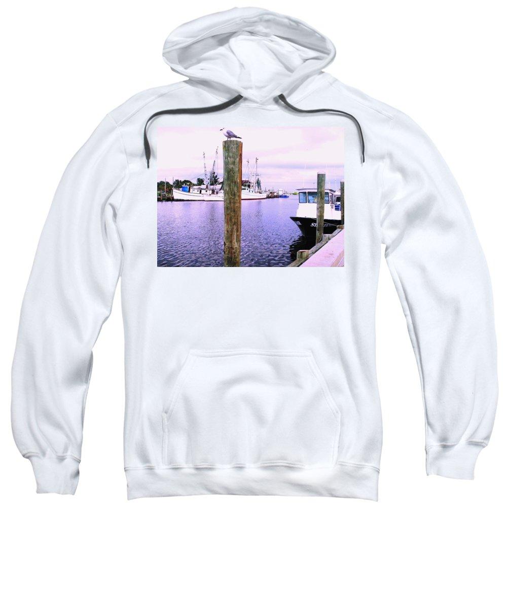 Tarpon Springs Sweatshirt featuring the photograph Harbor Master by Ian MacDonald