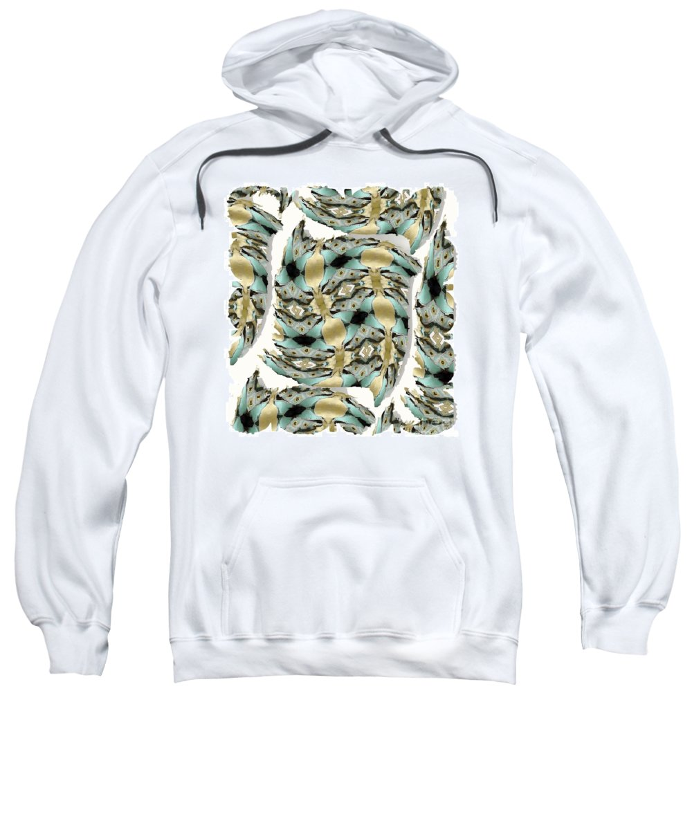 Abstract Sweatshirt featuring the digital art Harnesses Plus by Ron Bissett