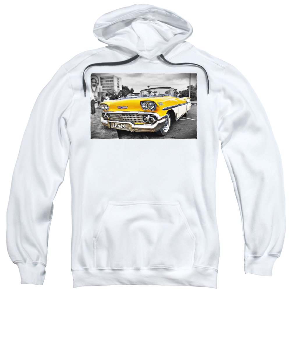 Chevy Sweatshirt featuring the photograph Havana Chevy Dreams by Carl Clay