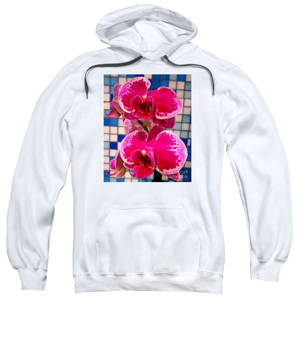 Orchid Sweatshirt featuring the photograph Hawaiian Orchid 1 by Randall Weidner