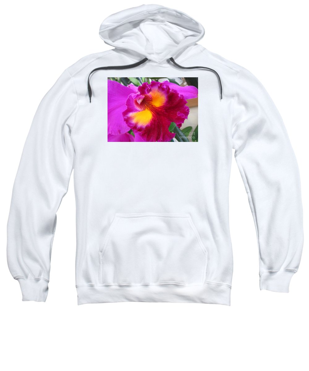 Orchid Sweatshirt featuring the photograph Hawaiian Orchid 2 by Randall Weidner