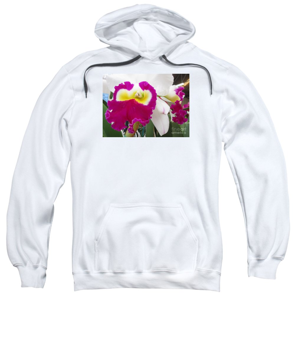 Orchid Sweatshirt featuring the photograph Hawaiian Orchid 4 by Randall Weidner