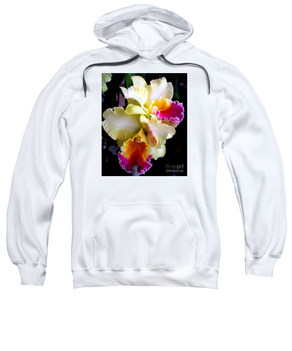 Orchid Sweatshirt featuring the photograph Hawaiian Orchid 7 by Randall Weidner
