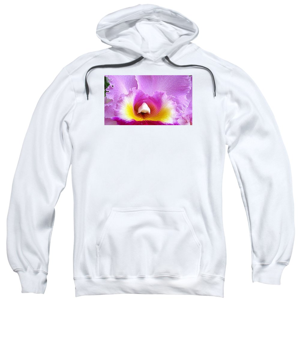 Orchid Sweatshirt featuring the photograph Hawaiian Orchid 9 by Randall Weidner