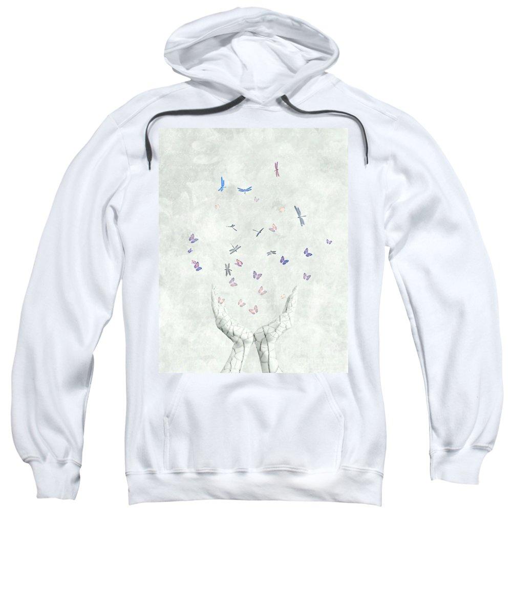 Surreal Sweatshirt featuring the digital art Heal by Jacky Gerritsen