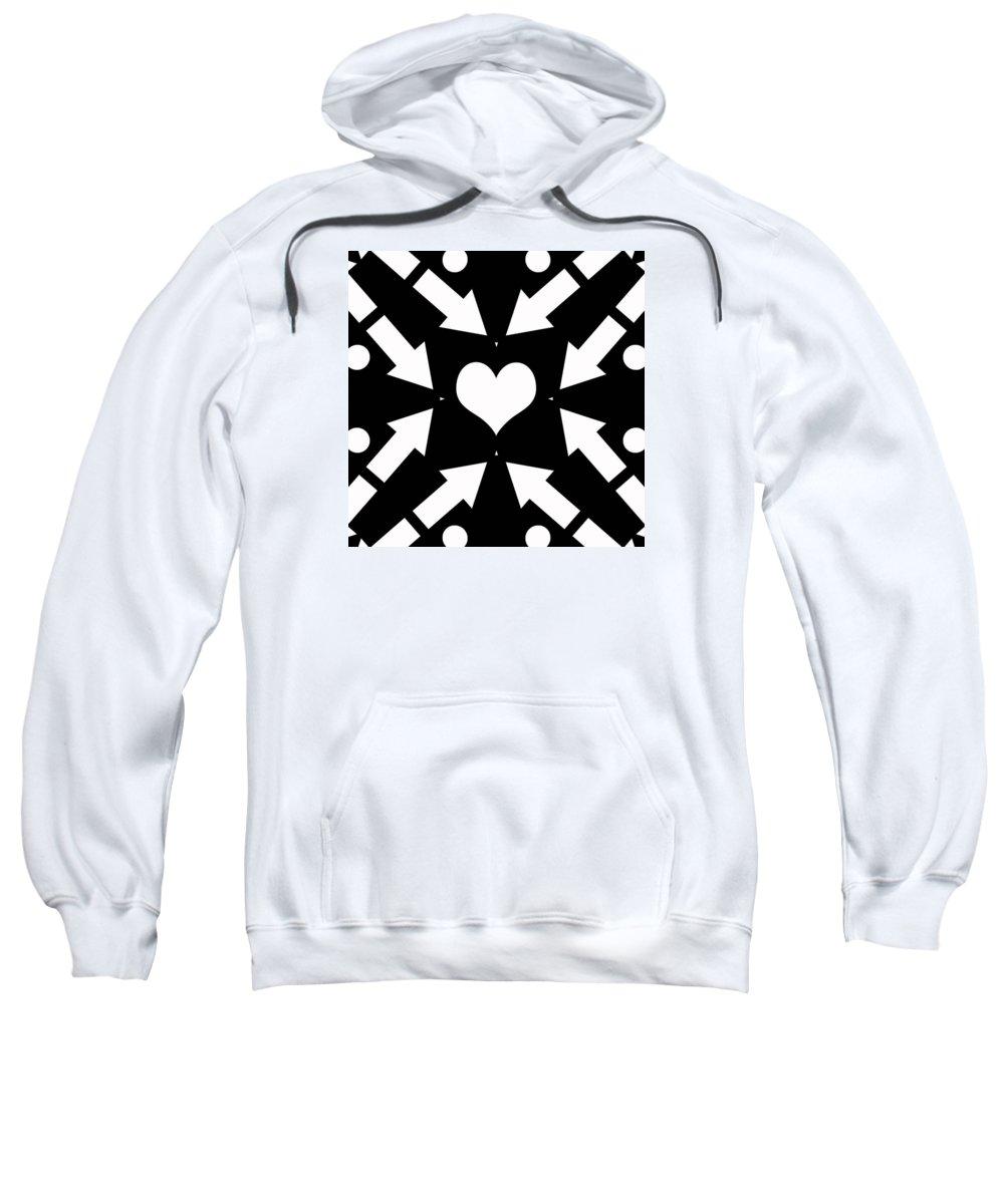 Arrow Sweatshirt featuring the digital art Heart And Arrows by David G Paul