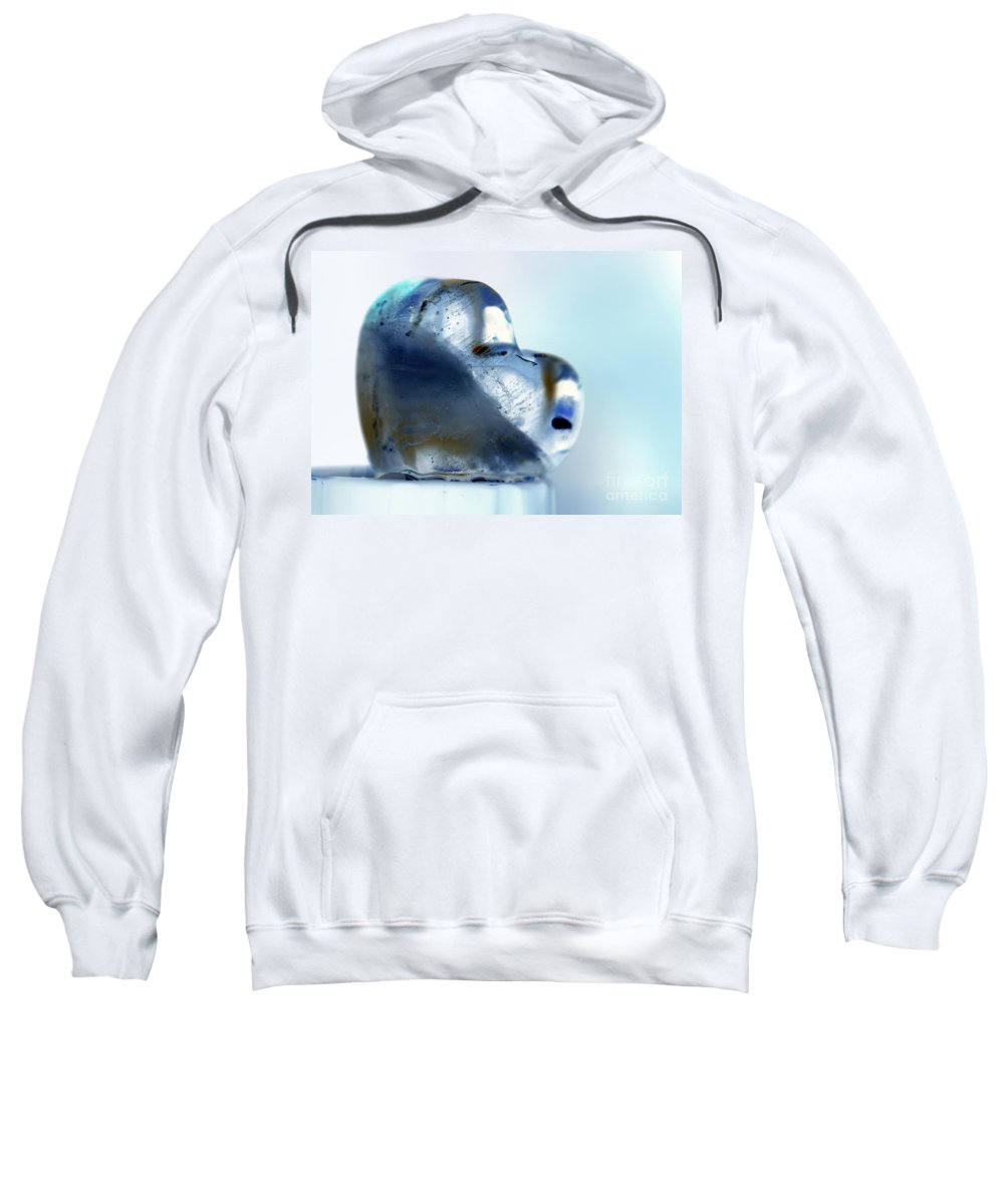 Hearts Sweatshirt featuring the photograph Heart On The Edge by Amanda Barcon