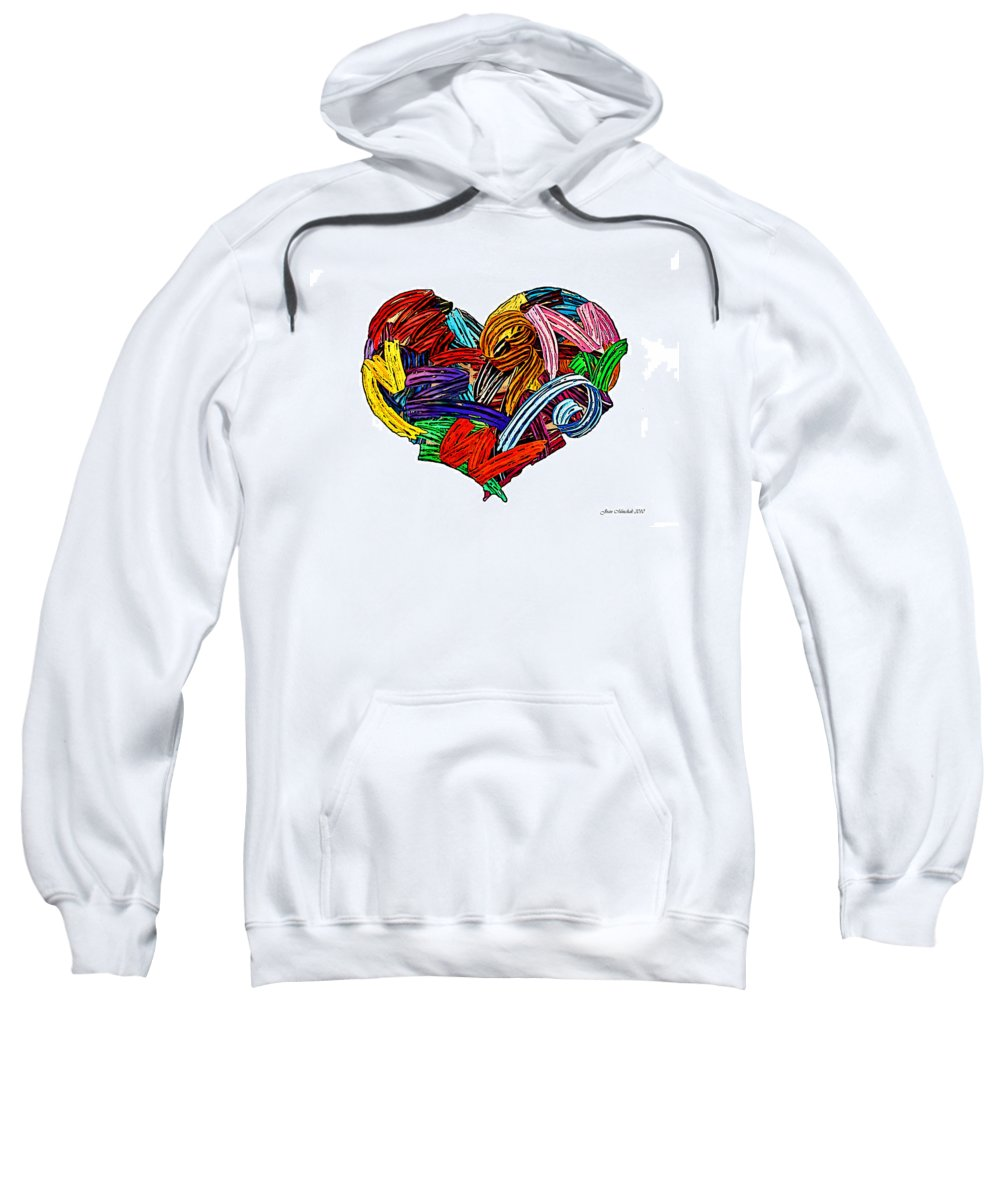 Blue Sweatshirt featuring the photograph Heart Ribbons by Joan Minchak