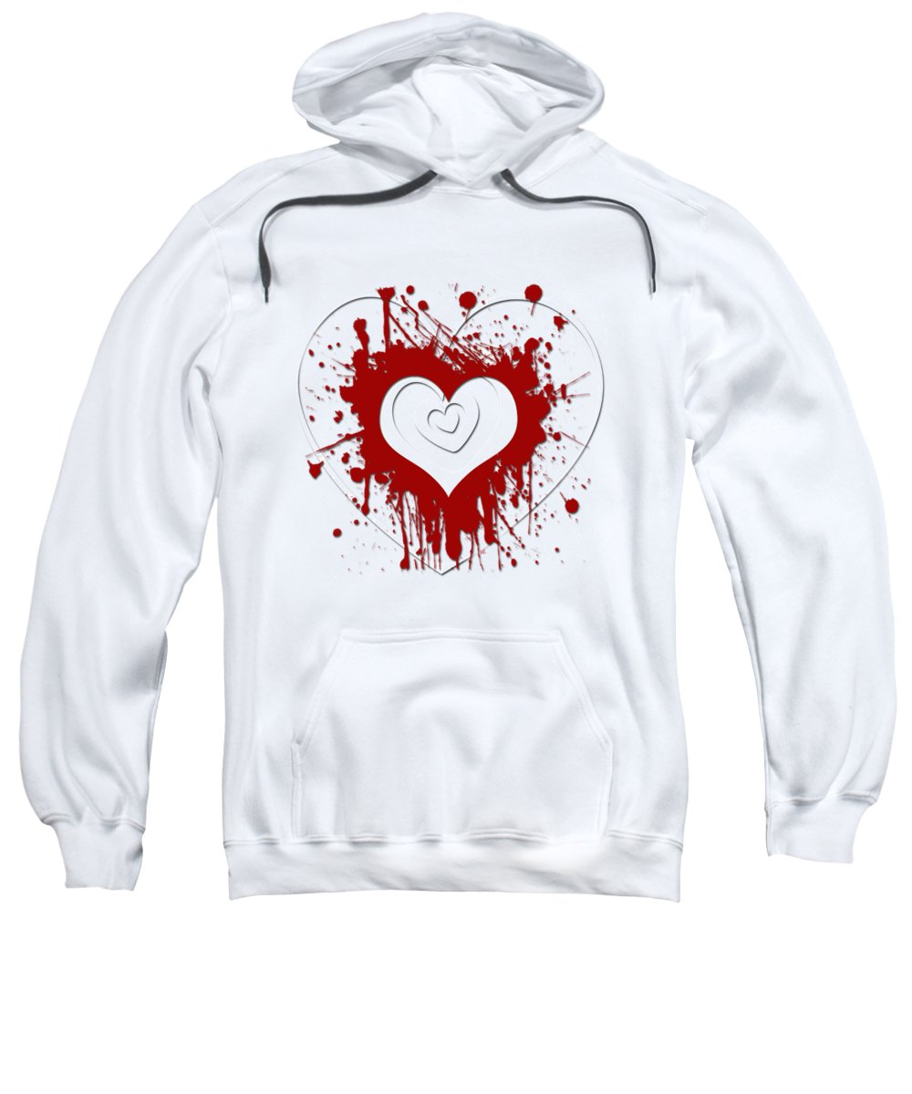 Abstract Sweatshirt featuring the digital art Hearts Graphic 1 by Melissa Smith