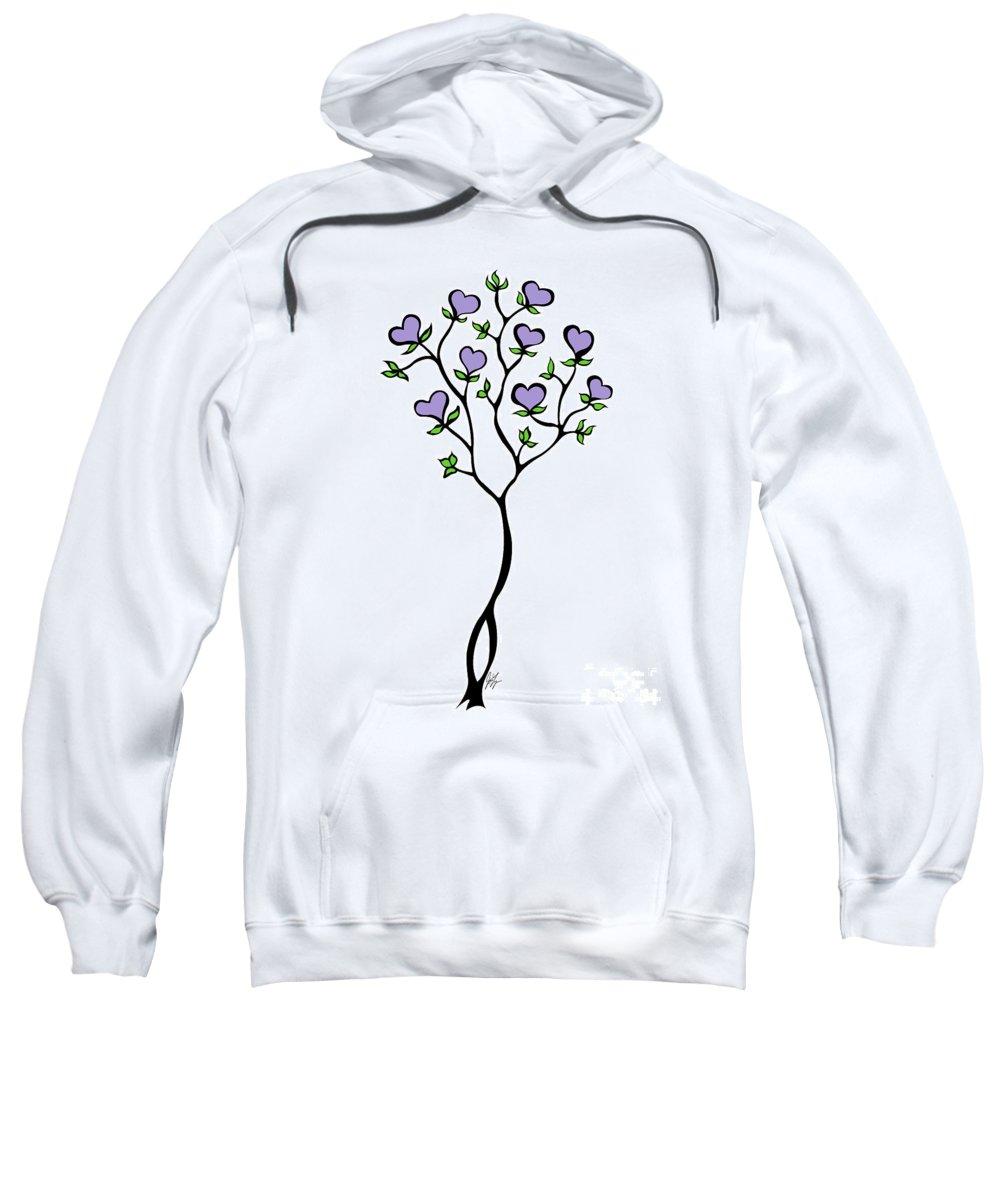 Jamie Lynn Gabrich Sweatshirt featuring the digital art Heliotrope by Jamie Lynn