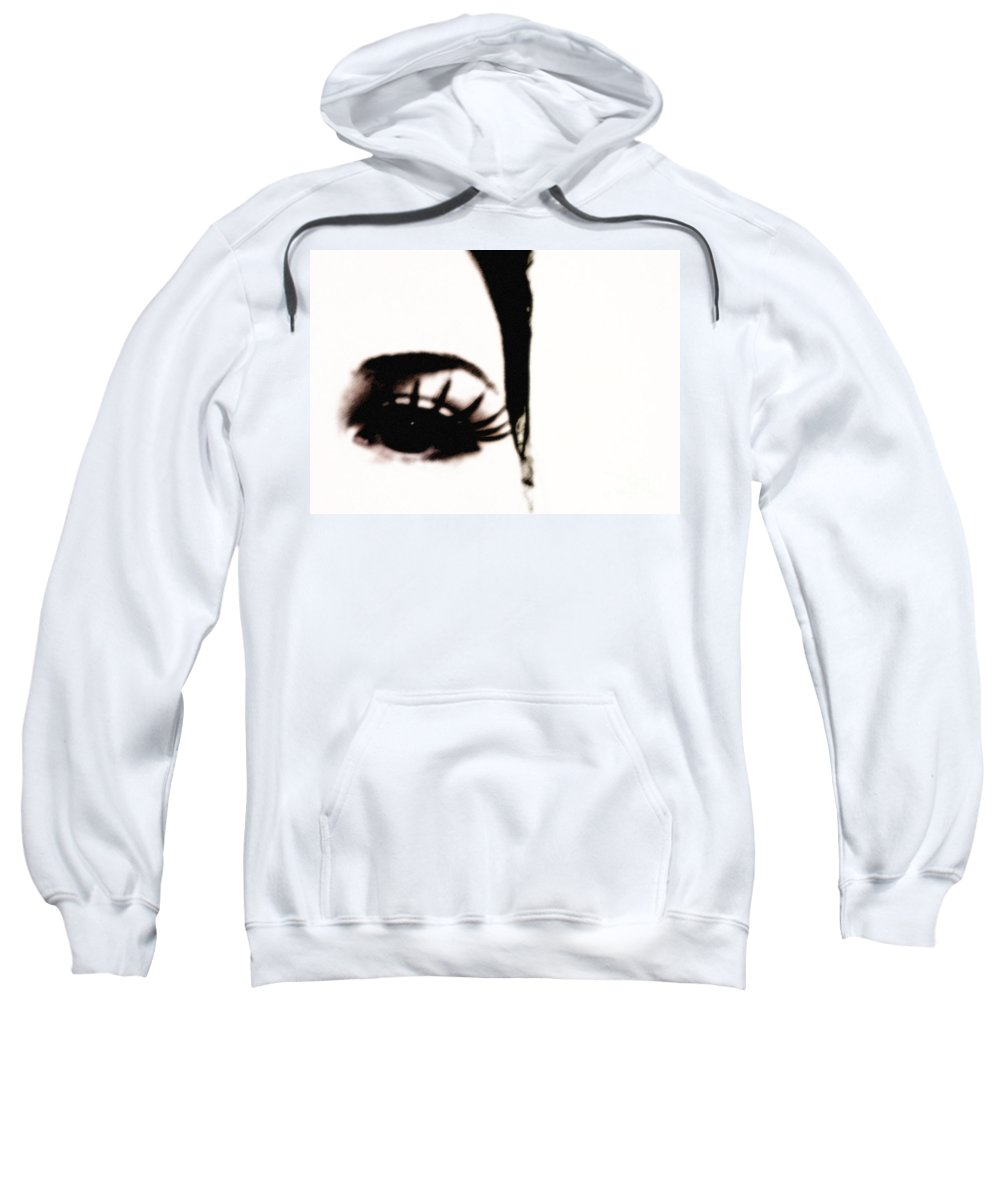 Eye Sweatshirt featuring the photograph Hello by Amanda Barcon