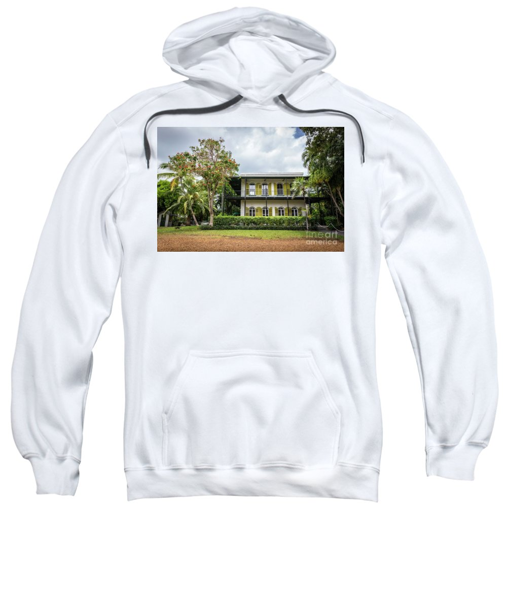 Key West Sweatshirt featuring the photograph Hemingway House, Key West, Florida by Liesl Walsh