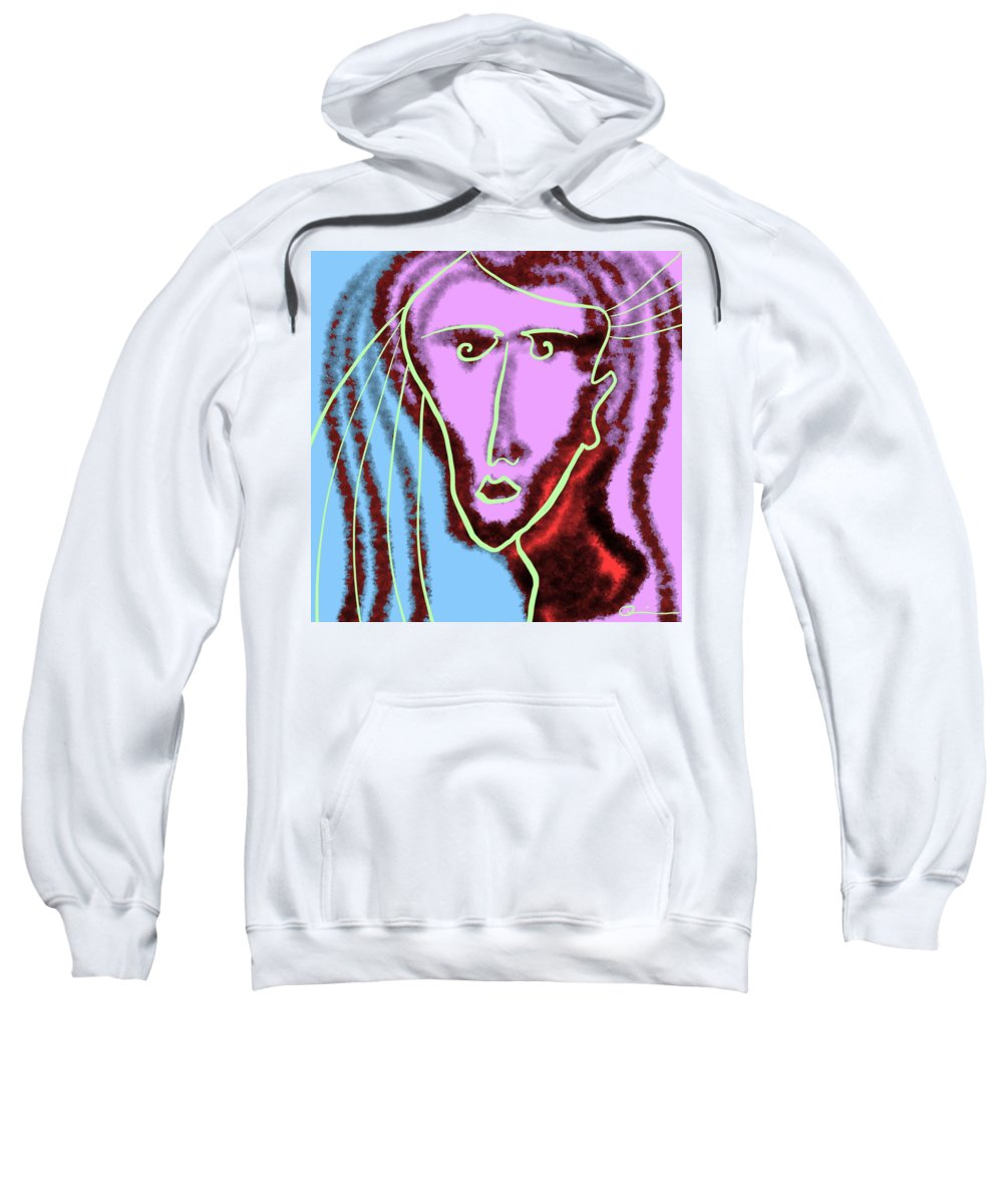 Goddess Sweatshirt featuring the digital art Hera by Jeff Quiros